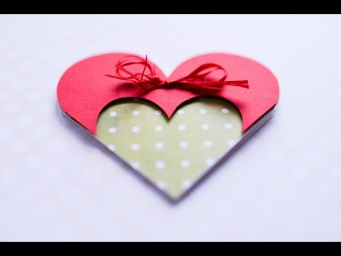 How to Make - Greeting Card Valentine's Day Heart - Step by Step DIY | Kartka Walentynki