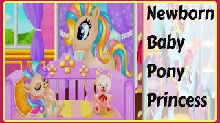 Girl Games Online : My little Pony games :  Newborn Baby Pony Princess