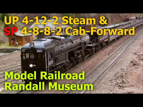 UP 4-12-2 Steam & SP 4-8-8-2 Cab-Forward at old GGMRC model train layout