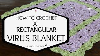 Crochet Rectangle Virus blanket