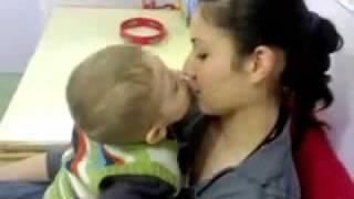 Child kissing Girl with hindi song