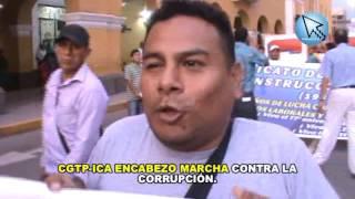 CGTP-ICA ENCABEZO MARCHA CONTRA LA CORRUPCIÓN.