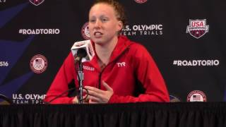 Lilly King 100 Breast Press Conference