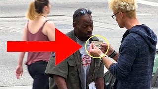 MAGICIAN MAKES HOMELESS MAN