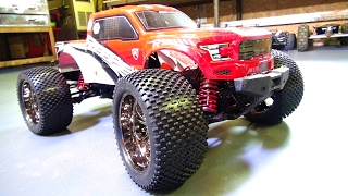 RC ADVENTURES - My 1st CEN REEPER MT Upgrade! Shock Springs & TiRES - 1/7, 6S Lipo Monster RC Truck