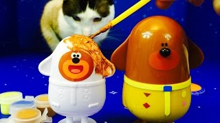 Painting HEY DUGGEE Toy Figure Craft Kit!