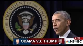 NEWS ALERT , Closing in on Donald Trump's inauguration , TRUMP VS  Obama