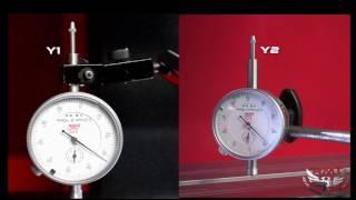 RMT B-GIANT 16-800 CNC PRESS BRAKE - Y1-Y2 AXES CPK TEST