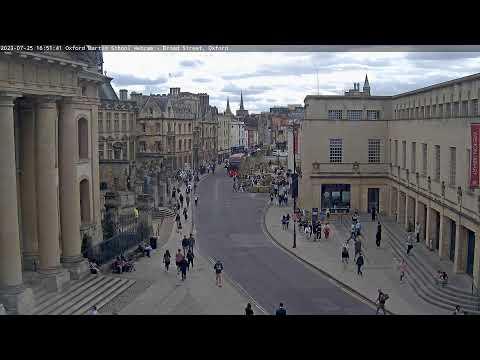 Oxford Martin School Webcam Broad Street Oxford