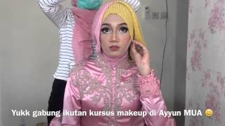 Tutorial hijab pashmina double gliter