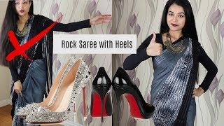 How to Walk in Heels Wearing a Saree | How to walk in Heels