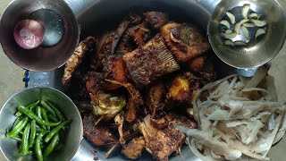 Naga Village Style Fish Fry   Traditional Food   Bamboo Shoot   Spicy   Cooking  