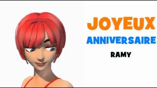JOYEUX ANNIVERSAIRE RAMY!