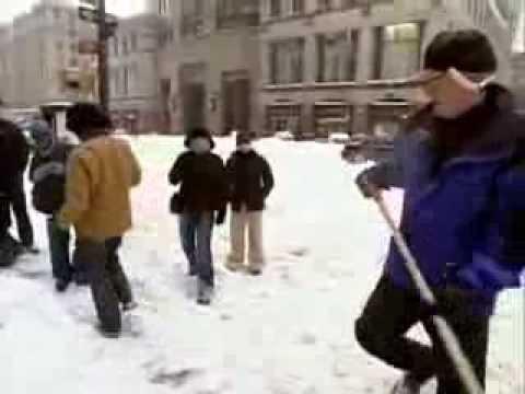 Conan Visits Big New york Blizzard 2003