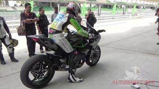 Kawasaki Ninja H2R test ride scenes