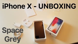 iPhone X - UNBOXING Space Grey (Deutsch)