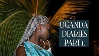 UGANDA DIARIES PART 1 | TRAVEL VLOG//LONG FLIGHT + SETTLING IN TO LIFE IN AFRICA!*NEW SILVER BRAIDS*