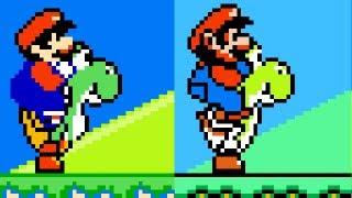 Super Mario World (8-bit NES pirate) graphics hack