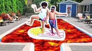 THE POOL IS LAVA!!! - Shasha And Shiloh - Onyx Kids
