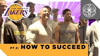 How to Succeed: The Rock's Q&A with the Los Angeles Lakers - Part 2