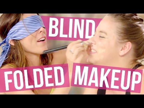 Blindfolded Makeup Challenge - Joslyn & Lily (Beauty Break )