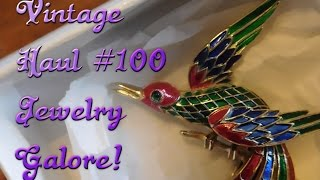 Diggin' with Dirty Girlj S6E2: Vintage Haul #100 Vintage Jewelry Galore!