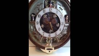 Seiko Swarovski Melodies in Motion Musical Wall Clock Collecter Ed. Beatles