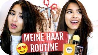 NEUER HAARSCHNITT 💇🏻♀️ Volumen erzeugen, Haarpflege - MEINE HAAR ROUTINE   Sanny Kaur