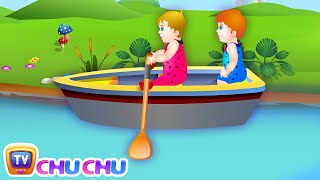 Row Row Row Your Boat Nursery Rhyme with Lyrics - Lullaby Songs for Babies by ChuChuTV