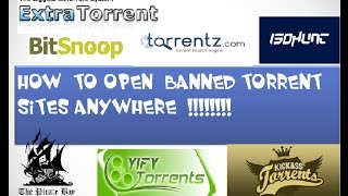 Simplest Method|How to Open Any Banned Torrent Websites in India (NOV 2016)