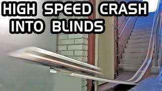 Lego train Crash into blinds