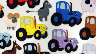 РАЗВИВАЙКА про Синий трактор - Мультик про животных и цвета для детей малышей