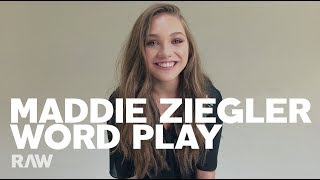 Maddie Ziegler For RAW's Word Play
