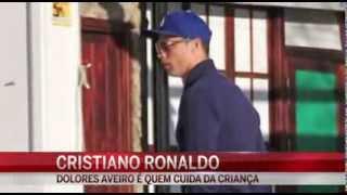 Cristiano Ronaldo leva o filho às aulas