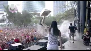 Steve Aoki Birthday Cake In Da Face x2 @ Ultra Music Festival 2012