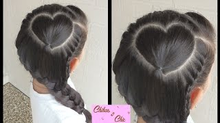 Perfect heart with braid! | Valentine's Day Hairstyles | Chikas Chic