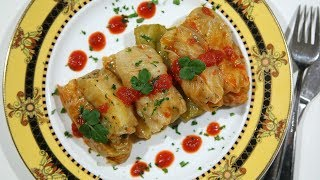 Pickled Cabbage Potato Tolma - Armenian Cuisine - Heghineh Cooking Show