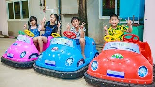 Kids Go To School | Chuns And Best Friend Discover Have Fun in Ball House Children Toys City