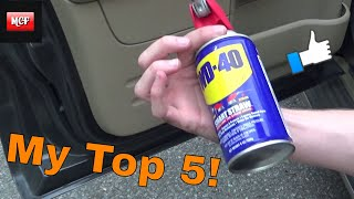 5 Top Reasons To Use WD40 In And On Your Car!! Life Hack