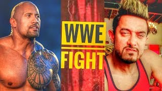 Secret Superstar Amir Khan Full HD Movie style match vs Rock WWE 2017