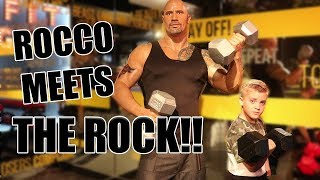 ROCCO MEETS... THE ROCK!!