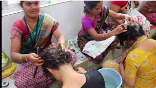 Two woman shave their head Bald in India