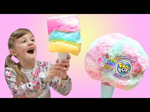IS ANYTHING BETTER THAN REAL COTTON CANDY Toys Vs Cotton Candy Food