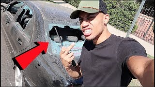 SMASHED A BIG YOUTUBERS WINDOWS! **REAL LIFE BEEF!**