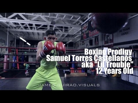 Boxing Prodigy 12 yr old Samuel Torres Castellanozs aka Lil Trouble