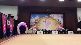 LA Lights - 2018 Rhythmic Gymnastics Tournament - Jaelyn, Level 7, clubs