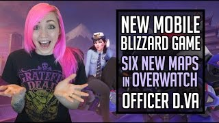 New MOBILE Blizzard Game?! Officer D.Va, New Overwatch Maps & More! | Blizzard Gaming News