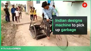 Indian Designs Machine Out of Scrap to Pick up Garbage