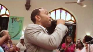 John Legend surprises Baptist Church in West Philly (How I Got Over)