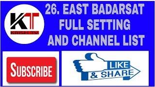 Badr 26° East DISH SETTING HOW TO SAT BADAR SAT 26 EAST 2017